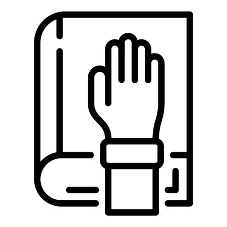 Judge book icon, outline style Ilustrace