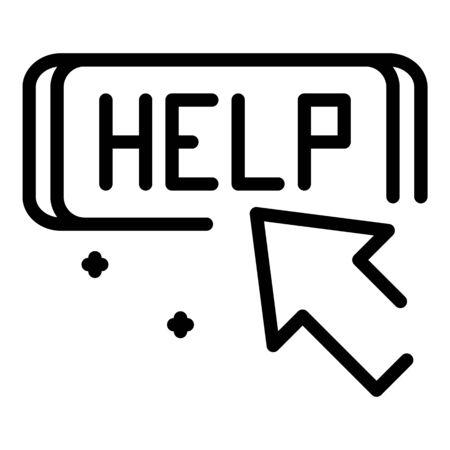 Help service center icon, outline style Illusztráció