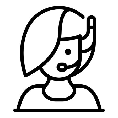 Service call center icon, outline style