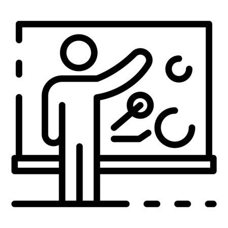 Job training icon, outline style Standard-Bild - 140307896