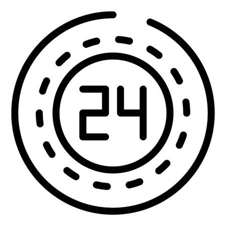 Talk service center icon, outline style Vettoriali