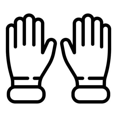 Gynecologist gloves icon, outline style