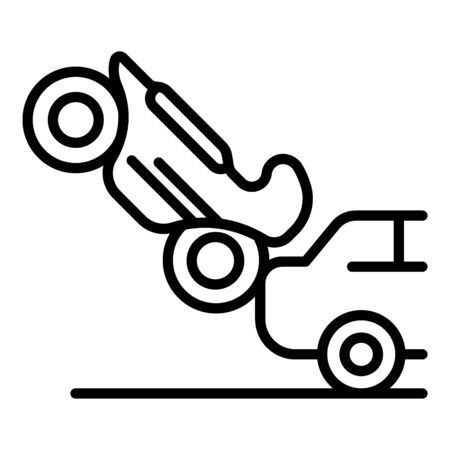 Motorbike car accident icon, outline style