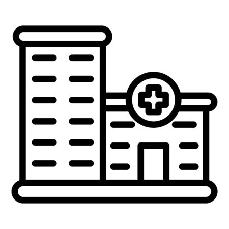 Private clinic building icon, outline style