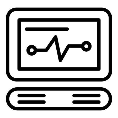 Cardio equipment icon, outline style Ilustrace