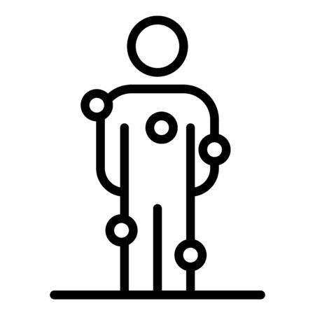 Doctor body analyzer icon, outline style