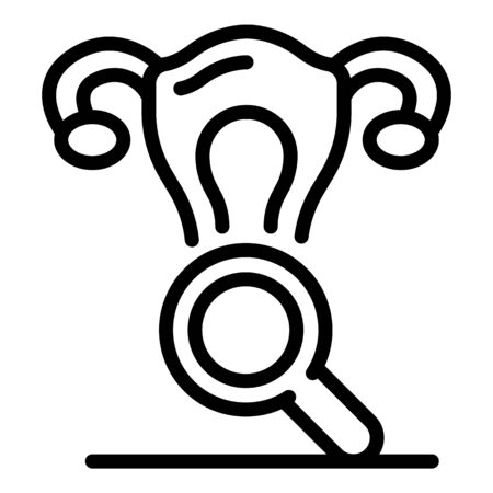 Gynecologist icon, outline style