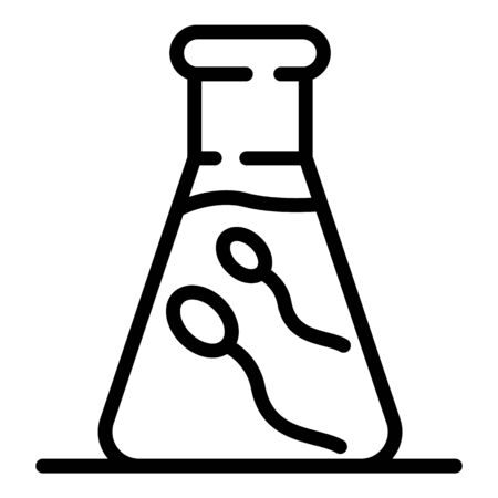 Sperm flask icon, outline style