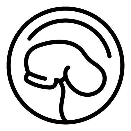 Baby embryo icon, outline style Illustration