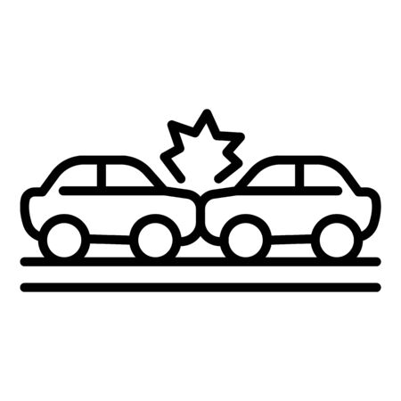 Windscreen car accident icon, outline style