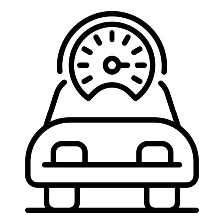 Speed car icon, outline style