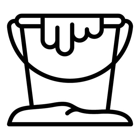 Paint bucket icon, outline style Ilustrace