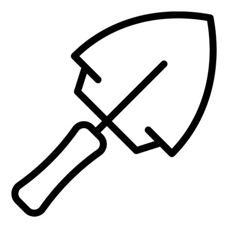 Steel trowel icon, outline style