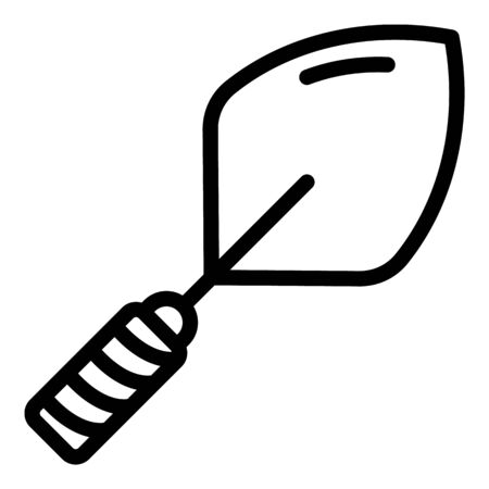 Industry trowel icon, outline style