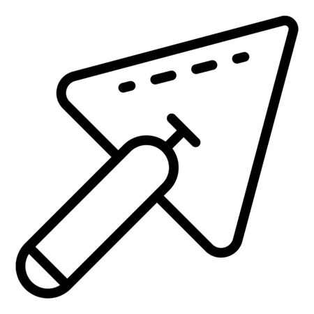 Working trowel icon, outline style