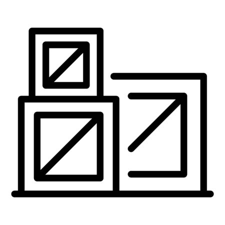 Reconstruction boxes icon, outline style Ilustrace