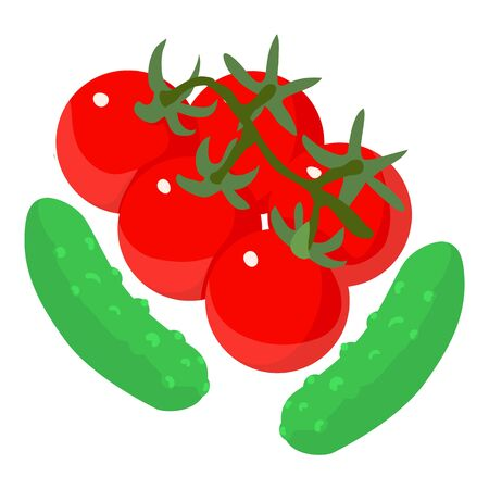 Vegetarian food icon. Isometric illustration of vegetarian food vector icon for web