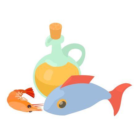 Sea food icon. Isometric illustration of sea food vector icon for web Stock Illustratie