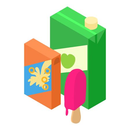 Sweet food icon. Isometric illustration of sweet food vector icon for web