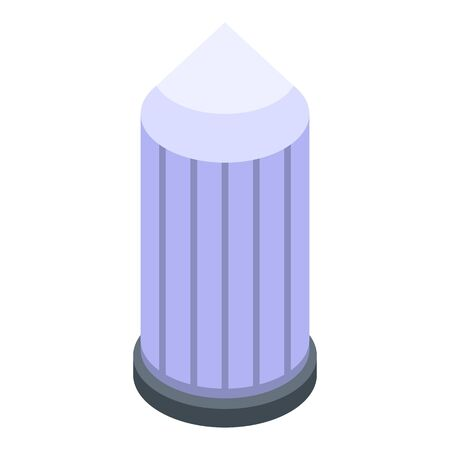 Water tower icon, isometric style