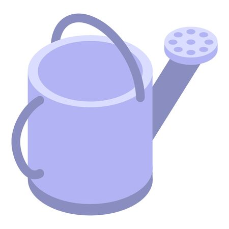 Watering can icon. Isometric of watering can vector icon for web design isolated on white background  イラスト・ベクター素材