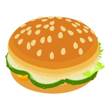 Burger small icon, isometric style Ilustracja