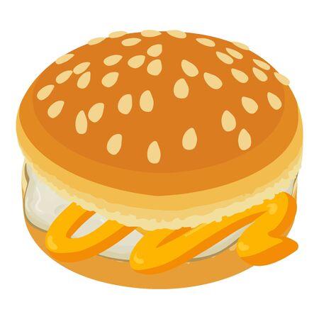 Fresh burger icon, isometric style