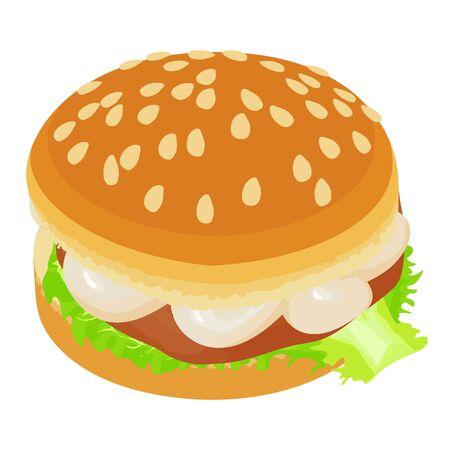 Hamburger icon, isometric style Ilustracja