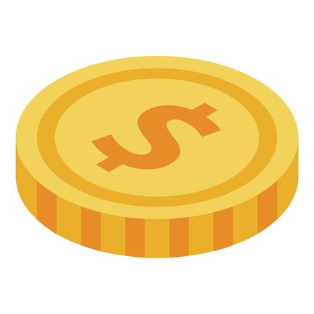 Parcel delivery cost icon, isometric style