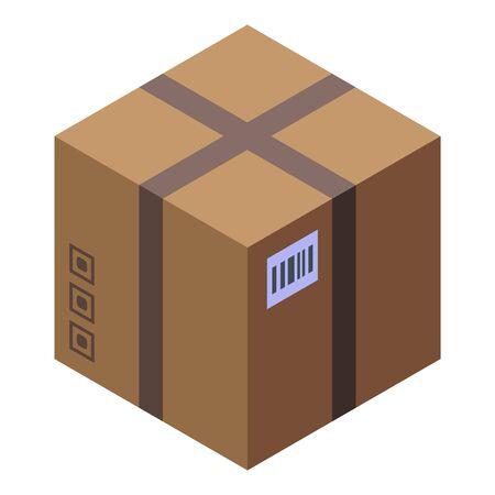 Parcel box icon, isometric style
