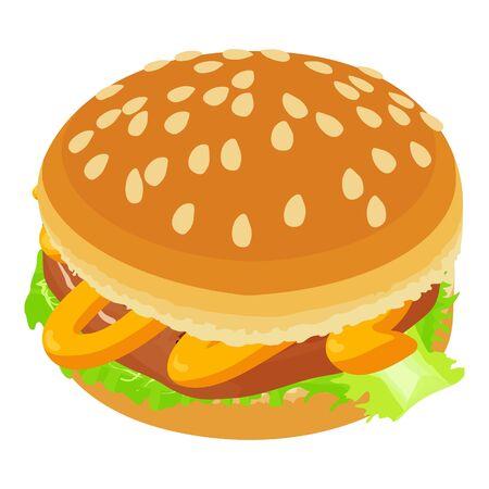 Classic hamburger icon, isometric style Ilustracja