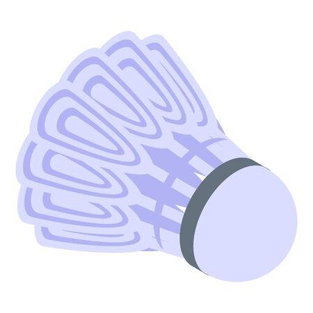 Sport shuttlecock icon, isometric style Ilustracja