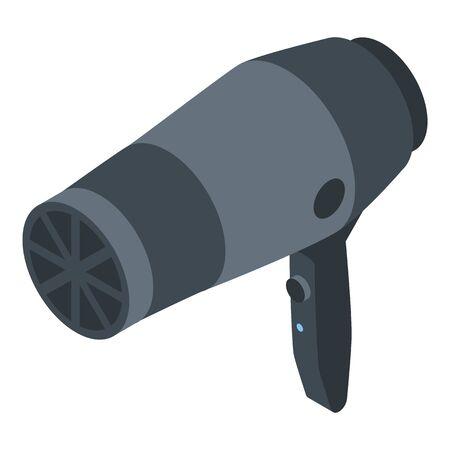 Beauty salon hair dryer icon, isometric style Ilustracja