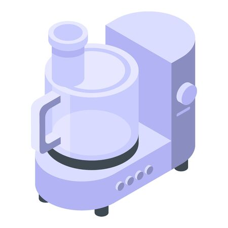 Cook food processor icon, isometric style