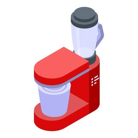 Food processor equipment icon, isometric style