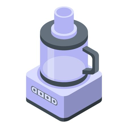 Kitchen food processor icon, isometric style