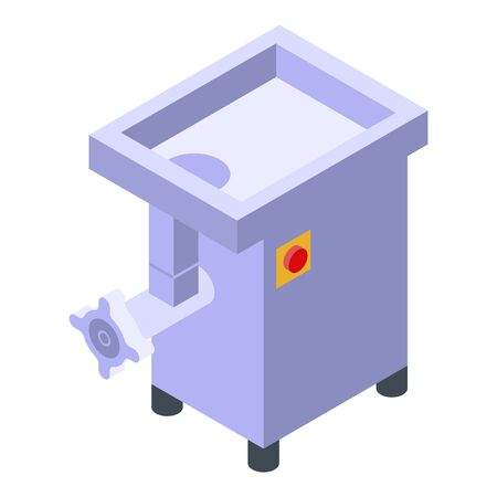 Meat grinder icon, isometric style