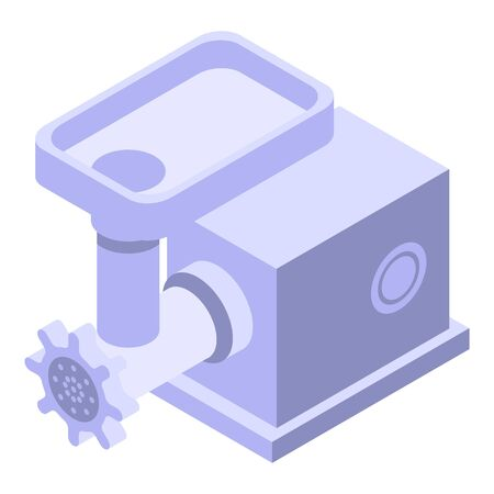 Electric meat grinder icon, isometric style