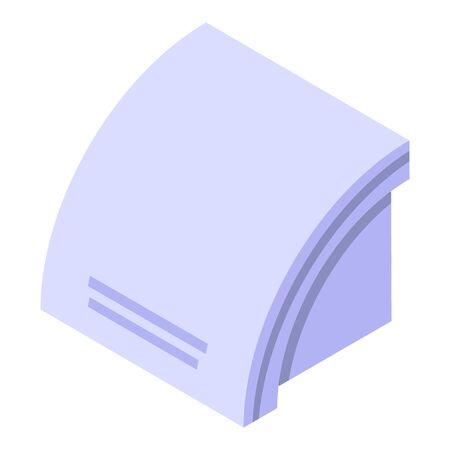 Dryer machine icon, isometric style Ilustracja