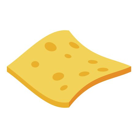 Cheese potato chips icon, isometric style