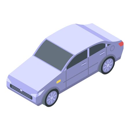 Clean car after wash icon, isometric style