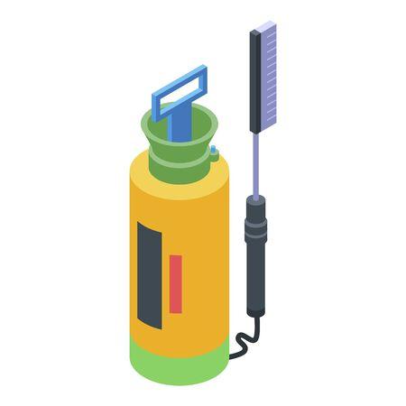 Pressure car wash equipment icon, isometric style