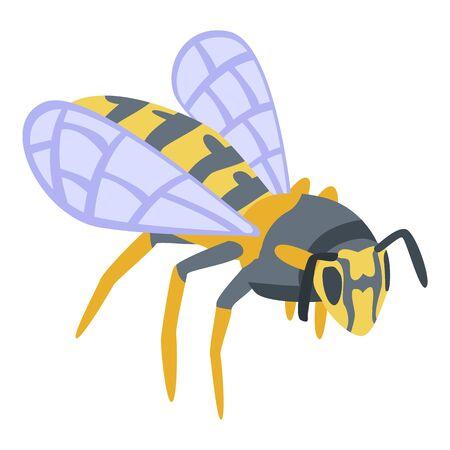 Wild wasp icon, isometric style
