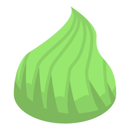 Green wasabi icon. Isometric of green wasabi vector icon for web design isolated on white background Çizim