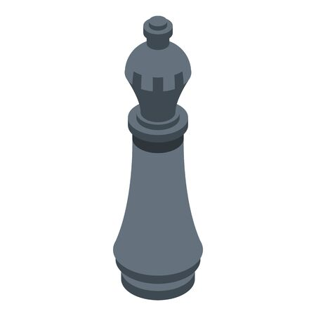 Chess piece icon. Isometric of chess piece vector icon for web design isolated on white background