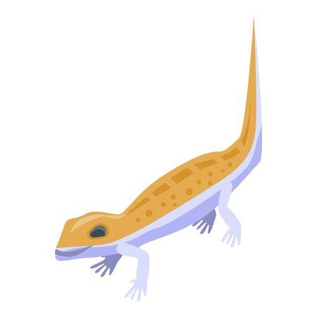 Cute orange reptile icon. Isometric of cute orange reptile vector icon for web design isolated on white background