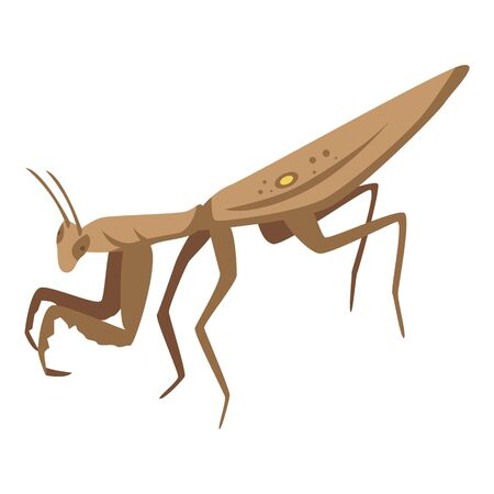 Brown mantis icon. Isometric of brown mantis vector icon for web design isolated on white background Banque d'images - 140990998