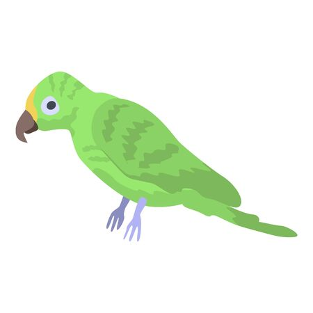 Green parrot icon. Isometric of green parrot vector icon for web design isolated on white background Reklamní fotografie - 140989213