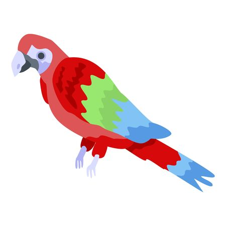 Exotic parrot icon. Isometric of exotic parrot vector icon for web design isolated on white background