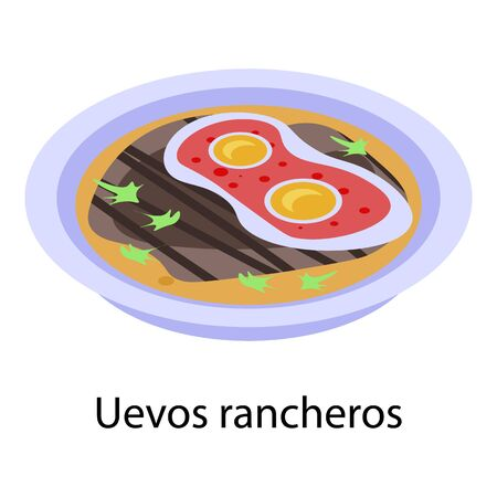 Mexican rancheros icon. Isometric of mexican rancheros vector icon for web design isolated on white background